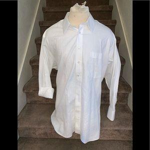 🎈Artful Tailoring white dress shirt men's BIG 3XL